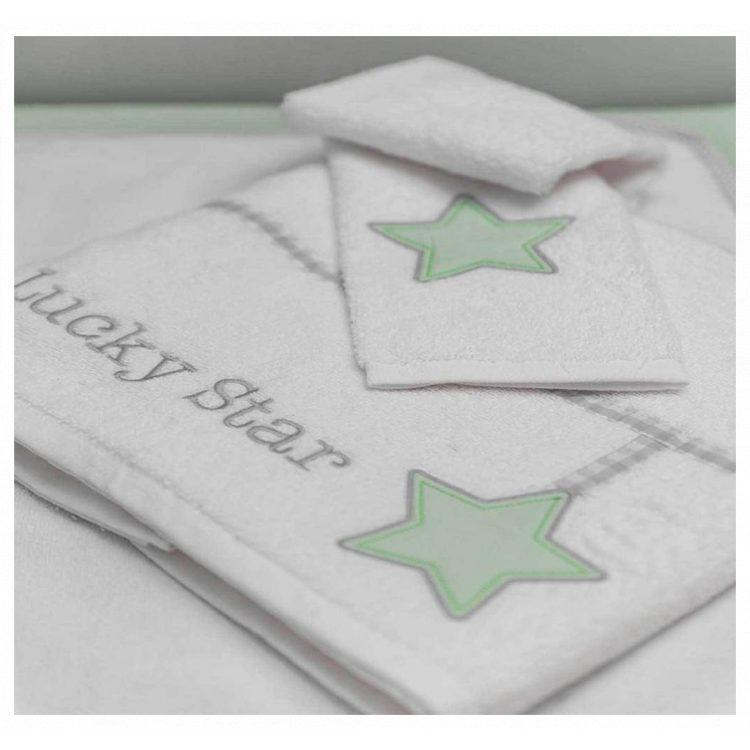 Πετσέτες σετ 2 τμχ Baby Oliver Lucky Star mint