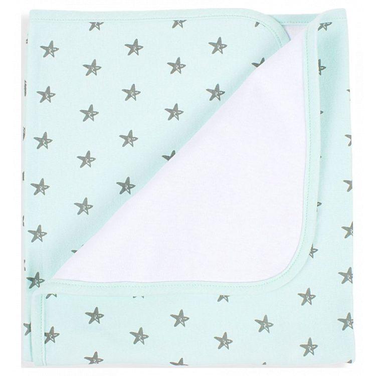 Κουβέρτα αγκαλιάς Interbaby Βαμβακερή Estrella green