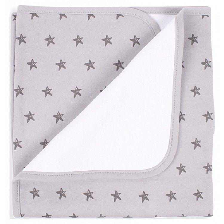 Κουβέρτα αγκαλιάς Interbaby Βαμβακερή Estrella grey