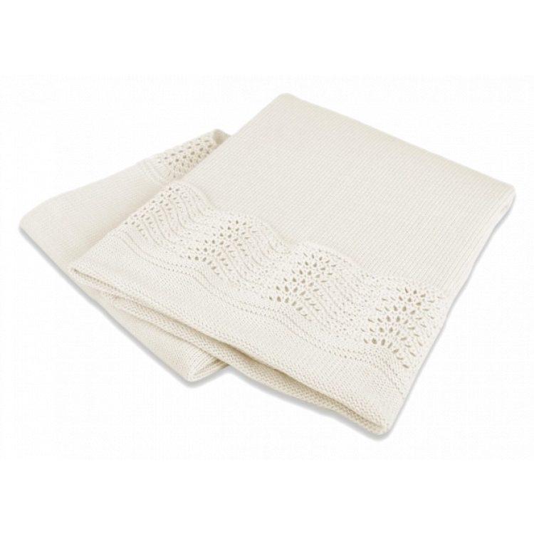 Κουβέρτα αγκαλιάς Interbaby Βαμβακερή ecru