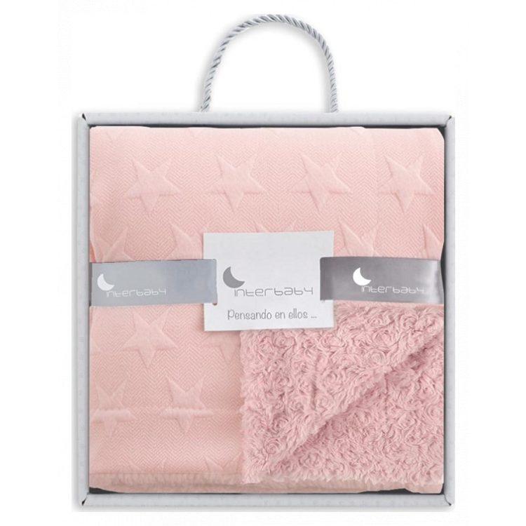 Κουβέρτα αγκαλιάς Interbaby Spiral pink