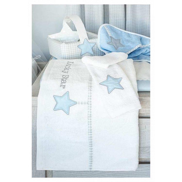 Πετσέτες σετ 2 τμχ Baby Oliver Lucky Star blue