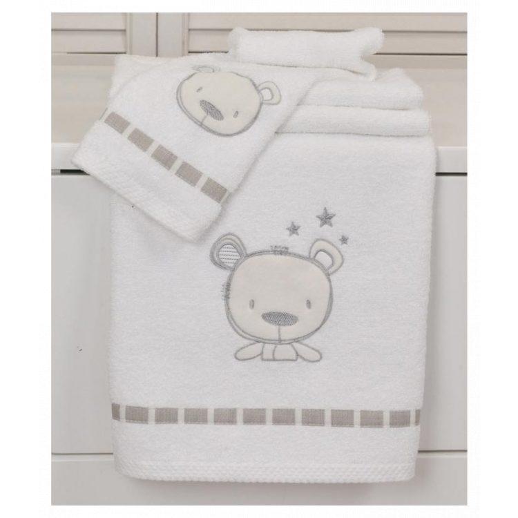 Πετσέτες σετ 2 τμχ Baby Oliver Sweet Teddy des. 350