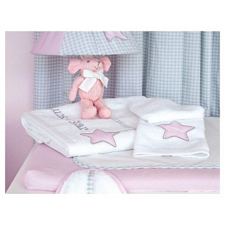 Πετσέτες σετ 2 τμχ Baby Oliver Lucky Star pink