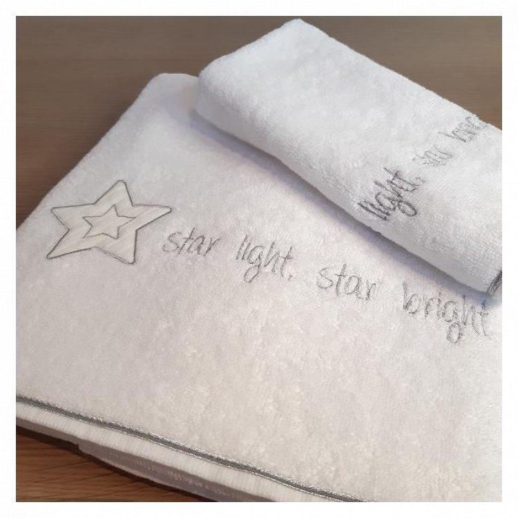 Πετσέτες σετ 2 τμχ Baby Oliver Star Light Star Bright