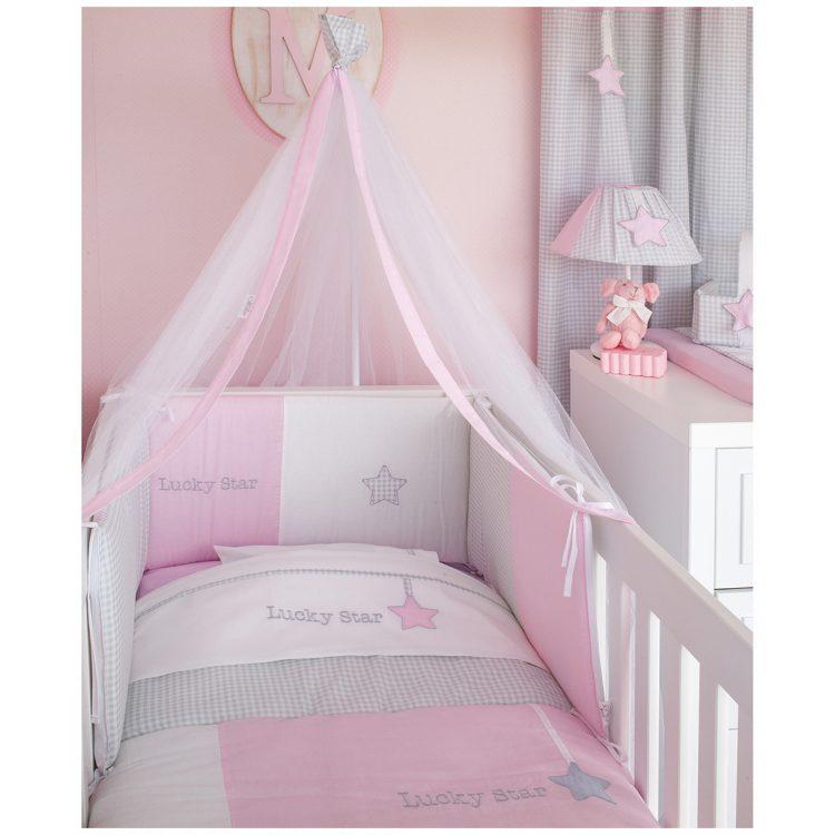 Προίκα κούνιας Baby Oliver Lucky Star pink σετ 3 τμχ