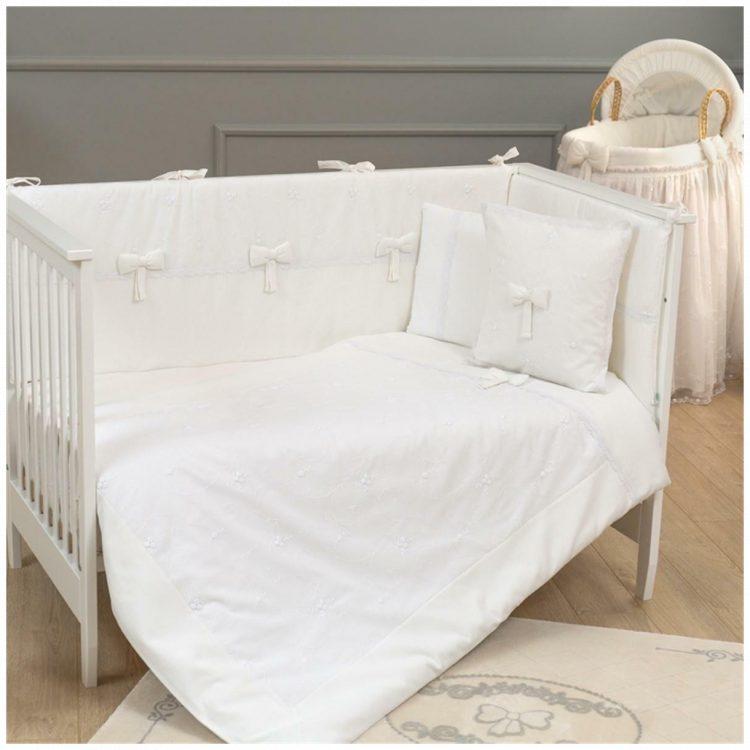 Προίκα κούνιας Funna Baby Premium white σετ 3 τμχ