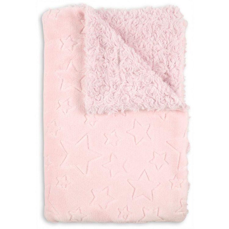Κουβέρτα αγκαλιάς Interbaby Stars pink